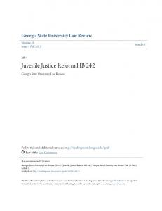 Juvenile Justice Reform HB 242