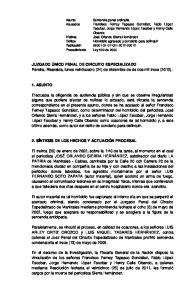 JUZGADO ÚNICO PENAL DE CIRCUITO ESPECIALIZADO Pereira, Risaralda, lunes veinticuatro (24) de diciembre de de dos mil trece (2013)