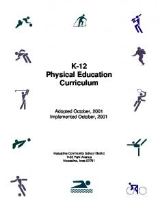 K-12 Physical Education Curriculum