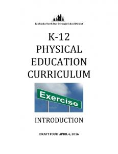 K- 12 PHYSICAL EDUCATION CURRICULUM