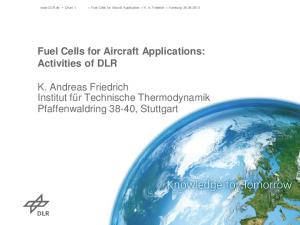 K. Andreas Friedrich Institut für Technische Thermodynamik Pfaffenwaldring 38-40, Stuttgart