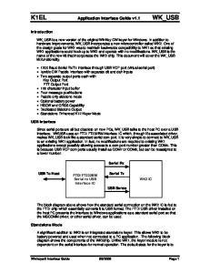 K1EL Application Interface Guide v1.1 WK_USB