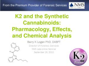 K2 and the Synthetic Cannabinoids: Pharmacology, Effects, and Chemical Analysis