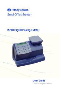 K700 Digital Postage Meter