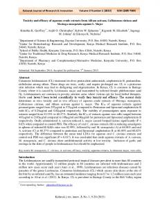 Kabarak Journal of Research & Innovation Volume 3 Number 1 (2015) ISSN X