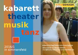 kabarett theater musik tanz