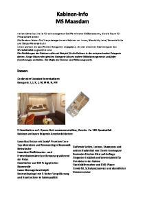 Kabinen-Info MS Maasdam