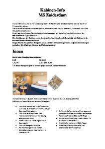 Kabinen-Info MS Zuiderdam
