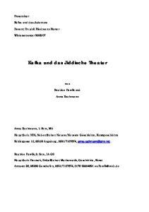 Kafka und das Jiddische Theater