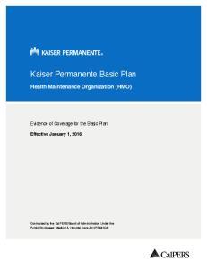Kaiser Permanente Basic Plan