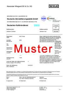 Kalibrierschein Kalibrierzeichen Calibration Certificate Calibration mark