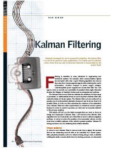 Kalman Filtering DAN SIMON