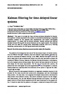 Kalman filtering for time-delayed linear systems