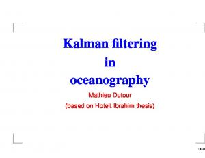Kalman filtering in oceanography