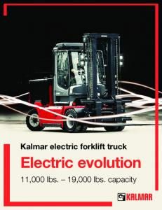 Kalmar electric forklift truck Electric evolution