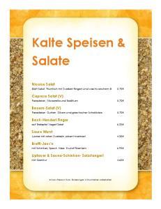 Kalte Speisen & Salate