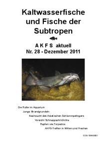 Kaltwasserfische und Fische der Subtropen