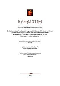 KAMASUTRA. Der Geschmack des modernen Indien