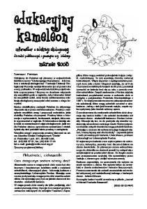 kameleon informator o edukacji ekologicznej