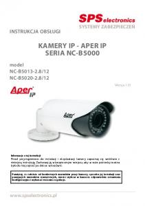 KAMERY IP - APER IP SERIA NC-B5000
