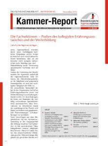 Kammer-Report. Offizielle Bekanntmachungen, Nachrichten und Informationen der Ingenieurkammer