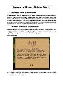 Kampania Kozacy Sztuka Wojny