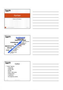 Kanban. Order to Produce. Today s Agenda