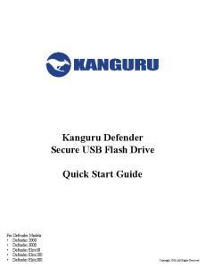 Kanguru Defender Secure USB Flash Drive