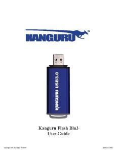 Kanguru Flash Blu3 User Guide