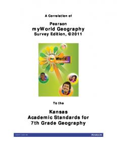 Kansas Academic Standards for 7th Grade Geography