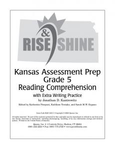 Kansas Assessment Prep Grade 5 Reading Comprehension