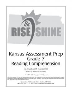 Kansas Assessment Prep Grade 7 Reading Comprehension
