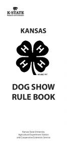 KANSAS DOG SHOW RULE BOOK