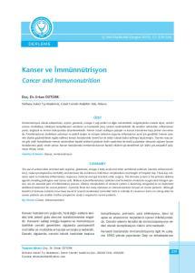 Kanser ve İmmünnütrisyon
