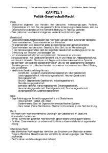 KAPITEL 1 Politik-Gesellschaft-Recht