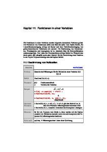 Kapitel 11: Funktionen in einer Variablen