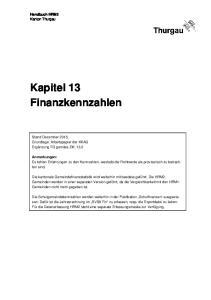 Kapitel 13 Finanzkennzahlen