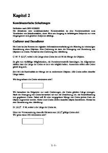 Kapitel 2. Kombinatorische Schaltungen. Codierer und Decodierer
