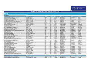 Kaplan Business School's Official Agent List