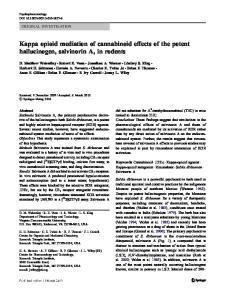 Kappa opioid mediation of cannabinoid effects of the potent hallucinogen, salvinorin A, in rodents