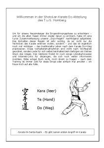 Kara (leer) Te (Hand) Do (Weg)
