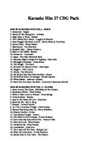 Karaoke Hits 27 CDG Pack