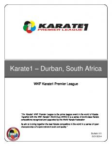 Karate1 Durban, South Africa