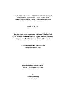 Kardio- und zerebrovaskuläre Komorbiditäten bei hypo- und normokaliämischem Hyperaldosteronismus: Ergebnisse des Deutschen Conn - Registers
