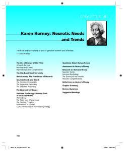 Karen Horney: Neurotic Needs and Trends