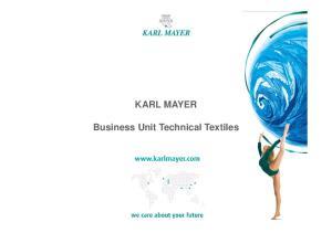 KARL MAYER. Business Unit Technical Textiles