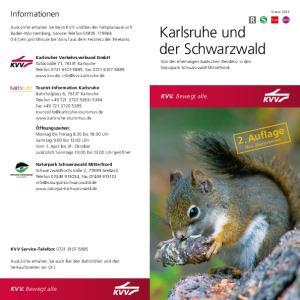 Karlsruhe und der Schwarzwald