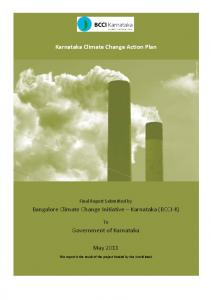 Karnataka Climate Change Action Plan