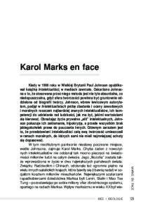 Karol Marks en face MARKS EN FACE IDEE I IDEOLOGIE