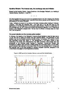 Karolina Ekholm: The interest rate, the exchange rate and inflation